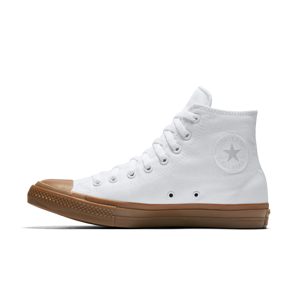 Converse Chuck II Gum High Top Shoe Size 10.5 (White
