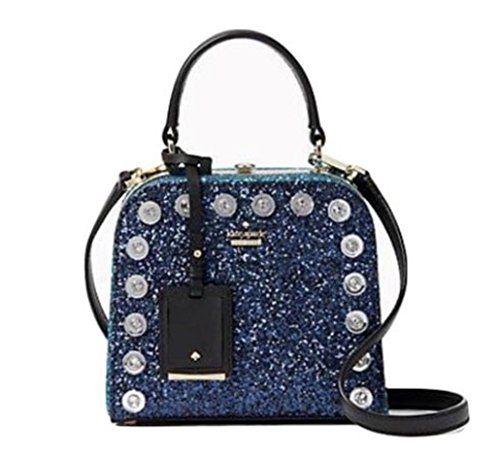 Kate Spade Violina Skyline Way Crossbody Glitter Blue Handbag