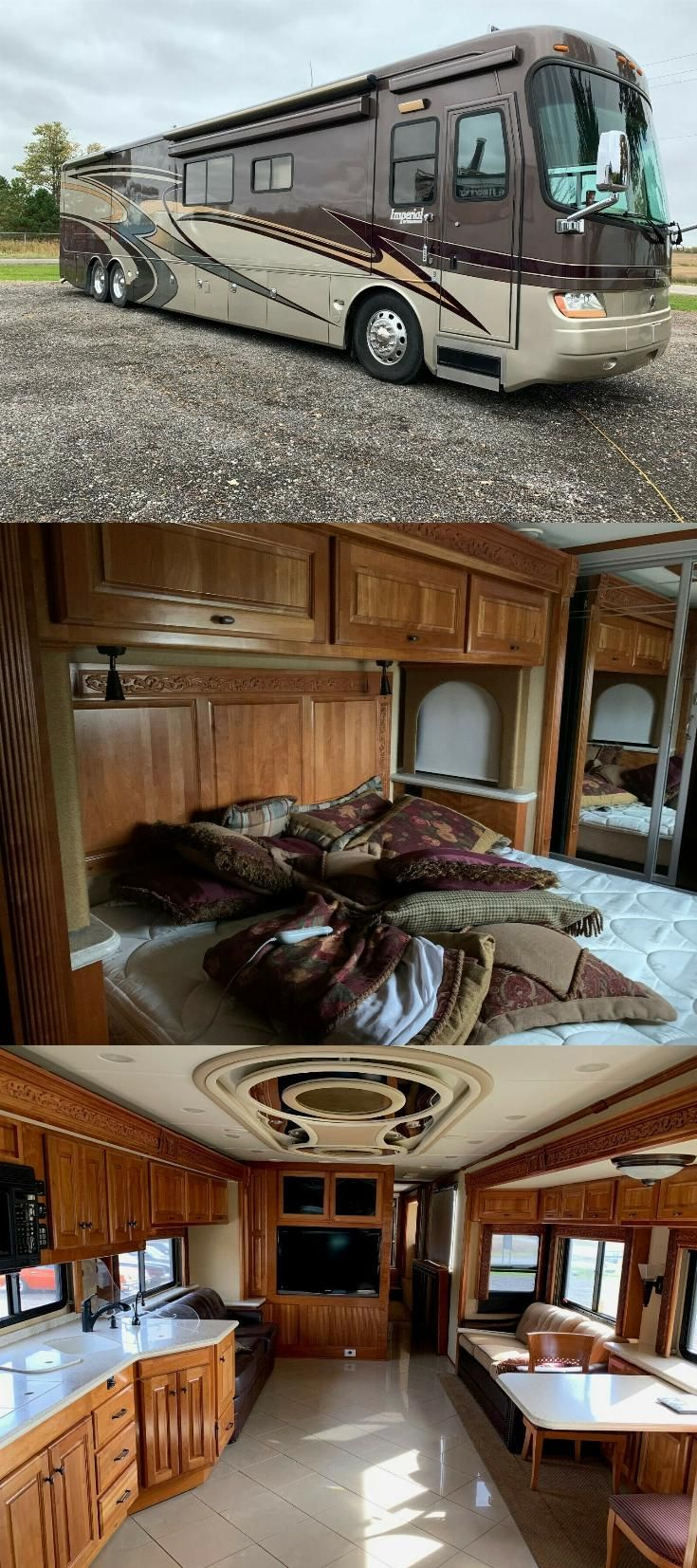 well equipped 2008 Holiday Rambler Imperial Bali V camper