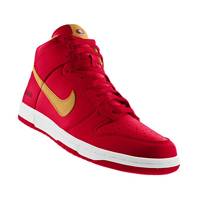 fd9fb5a15203 NIKEiD. Custom Nike Dunk High (NFL San Francisco 49ers) iD Shoe ...