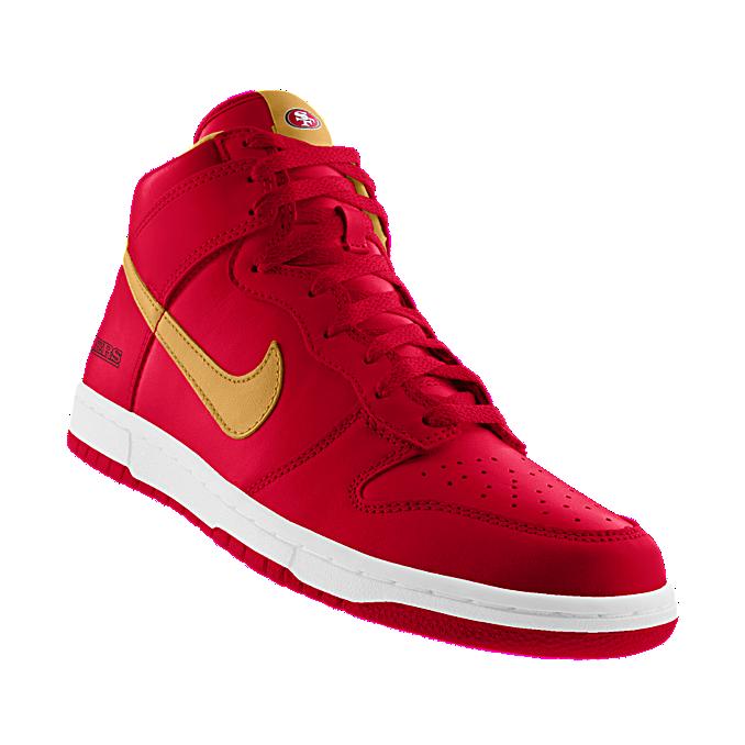 big sale 85b2c 15b36 Custom Nike Dunk High (NFL San Francisco 49ers) iD Shoe