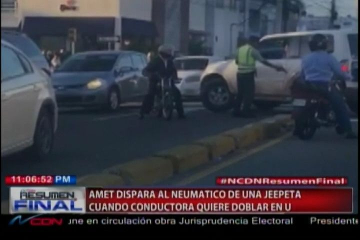 """Félix Victorino habla con el vocero de la Amet, coronel Diego Pesqueira """"vía telefónica"""" sobre el Agente de la AMET que disparó a la goma…"""