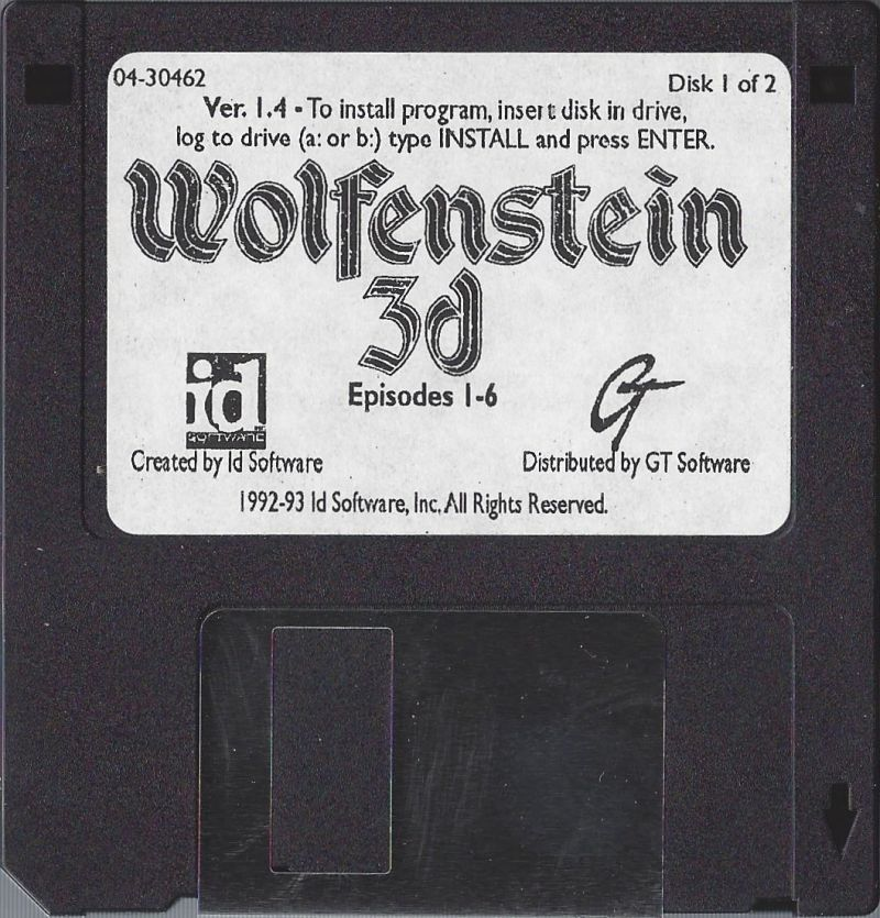 Cover art for Wolfenstein 3D (DOS) database containing