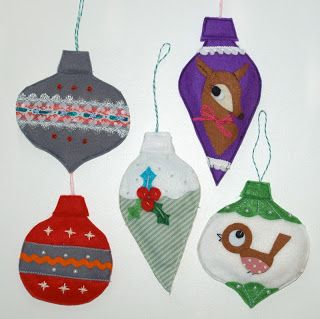 Felt xmas decorations