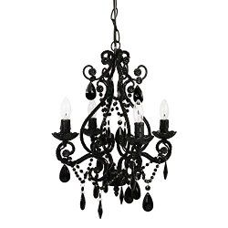 Cheap Small Black Crystal Chandelier For Small Nursery Girls And