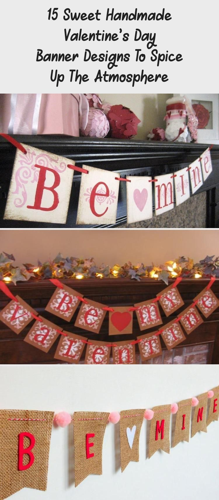 15 Sweet Handmade Valentines Day Banner Designs To Spice Up The Atmosphere Burlapbanner Travelbann 15 Sweet Handmade Valentines Day Banner Designs To Spice Up The Atmosph...