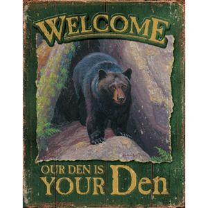 Tin Sign Tin Signs Welcome To Our Den!