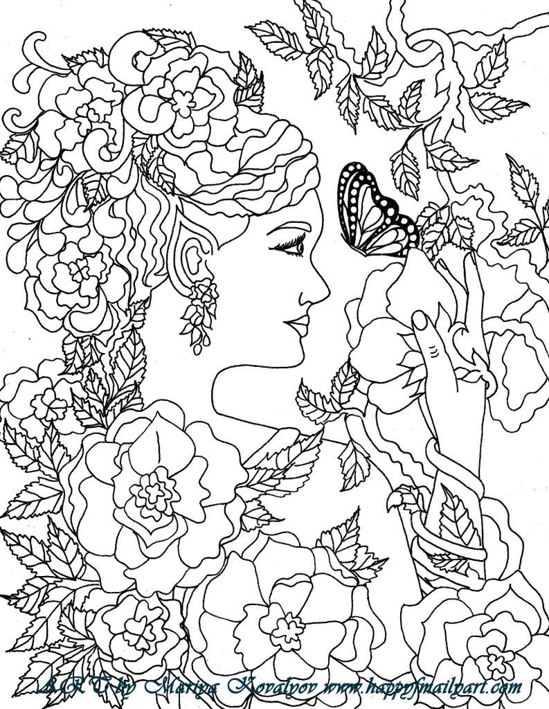 Fairy coloring pages adult colouring pagesbooks pinterest
