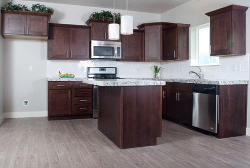 Best Knotty Alder Mocha Shaker Style Wholesale Kitchen Cabinets 400 x 300