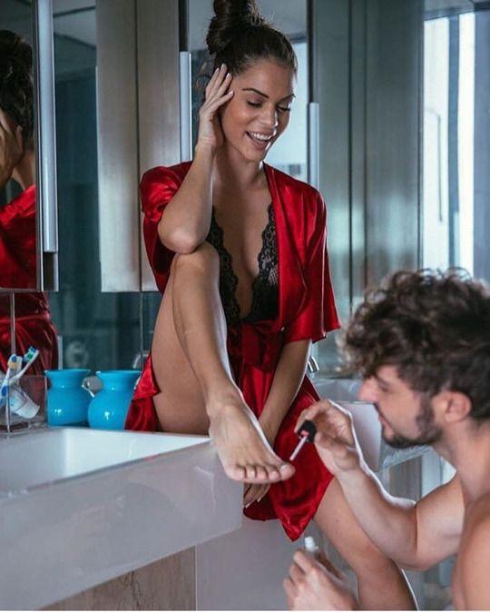 Female domination bathing the wife