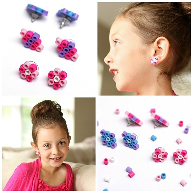 Make earrings from beads