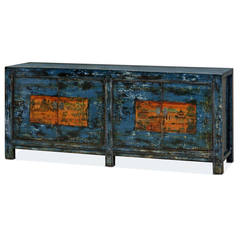 Elmwood Tibetan Tang Sideboard