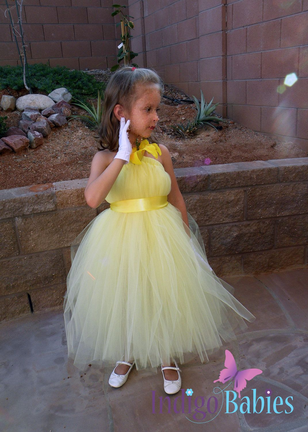 Navy Blue Gold Sequin Flower Girl Dress Ivory Tulle Flower Girl