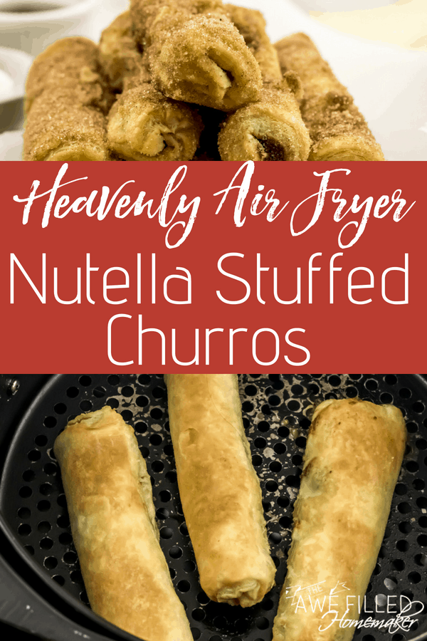 Heavenly Air Fryer Nutella Stuffed Churros Recipe