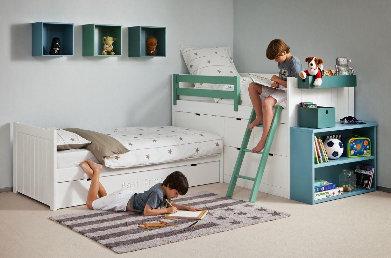 Dormitorios juveniles habitaciones infantiles y mueble for Habitaciones de dos camas
