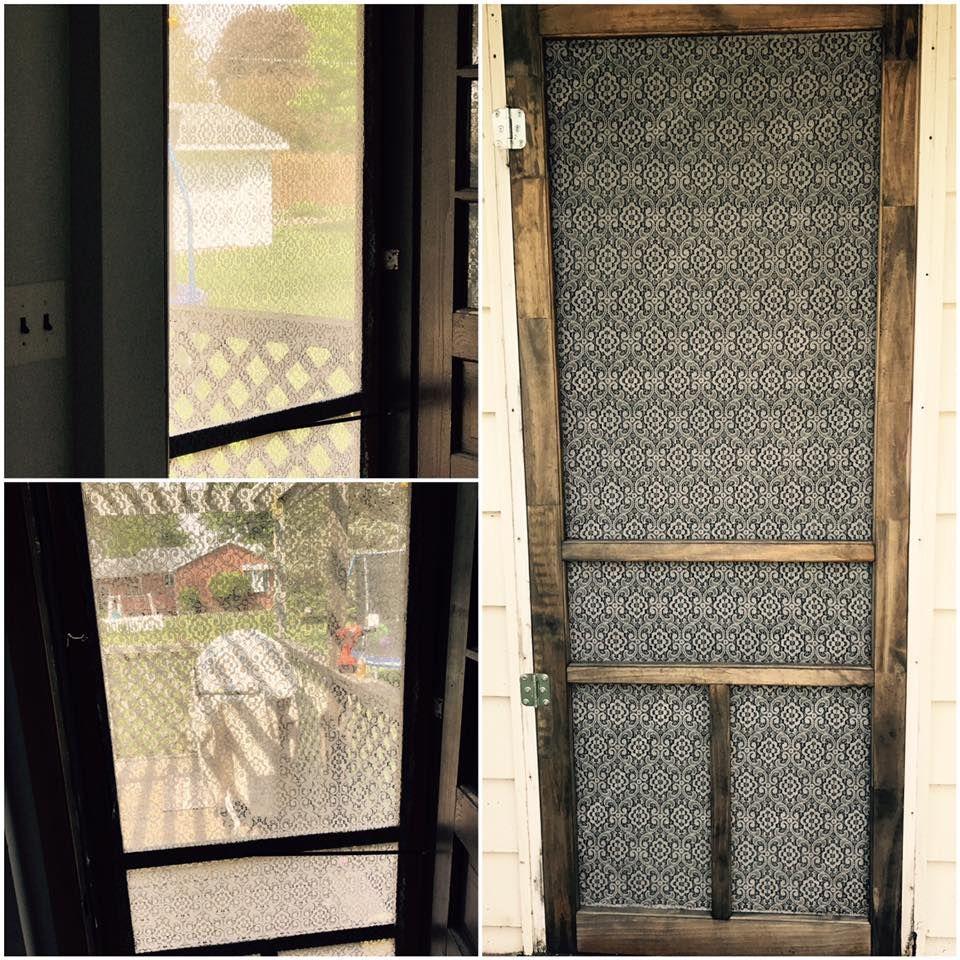 lace on screen door Doors, Decor, Farmhouse