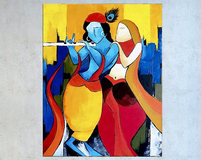 Indian Painting India Wall Art Indian Decor Painting On Etsy Modern Indian Art Indian Art Indian Painting