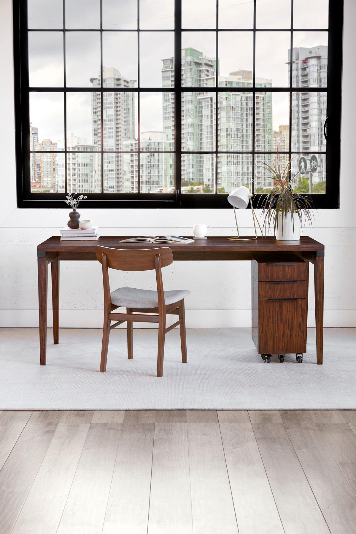 Madera Chestnut 54 Desk Desk Home Office Decor Contemporary Desk