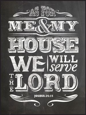As For Me and My House, Chalkboard Wall Art -