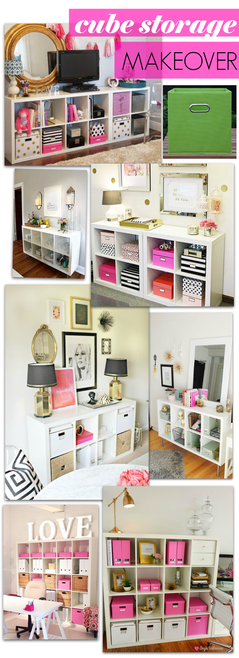 Diy Cube Fabric Drawer Makeover Tutorial Cube Storage Bedroom
