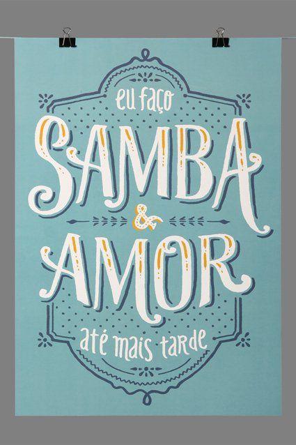 Poster Samba E Amor Bacaninhas Atelier