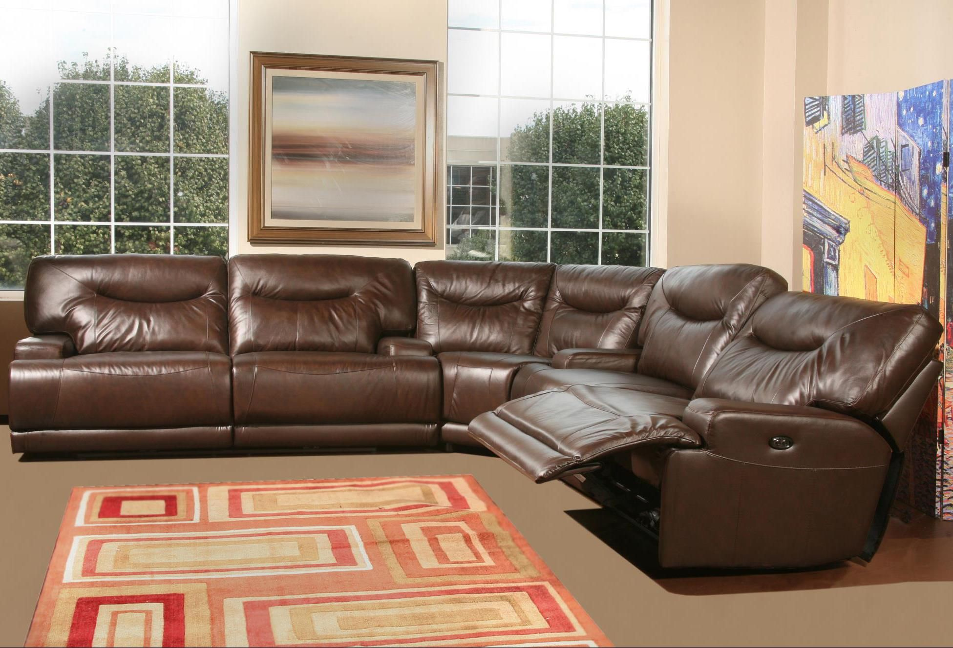 Tremendous Teddy Power Reclining Sectional With Interior Arms By Amalfi Dailytribune Chair Design For Home Dailytribuneorg