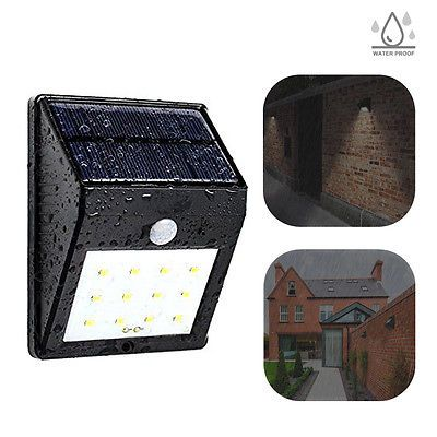 12led Solar Power Pir Motionsensor Wall Outdoor Waterproof Garden Lamp Us Seller Solar Power Garden Lamps