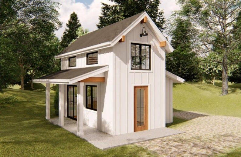 Pack 10 Design Of Tiny House Granny Flat House Plan The 10 Etsy In 2020 Tiny House Exterior Modern Tiny House Tiny House Plan
