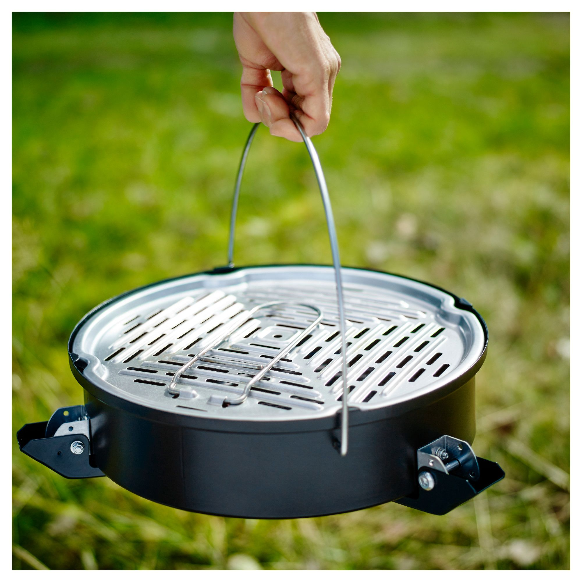 Ikea Korpon Portable Charcoal Grill Black Portable Charcoal Grill Charcoal Grill Cooking Area