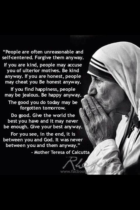 Mother Teresa Quotes Mother Teresa quotes of wisdom | Things I love | Mother teresa  Mother Teresa Quotes