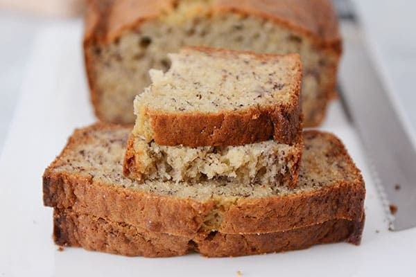 Sour Cream Banana Bread Recipe One Bowl Mel S Kitchen Cafe Recipe Sour Cream Banana Bread Banana Bread Recipe Moist Sour Cream Recipes