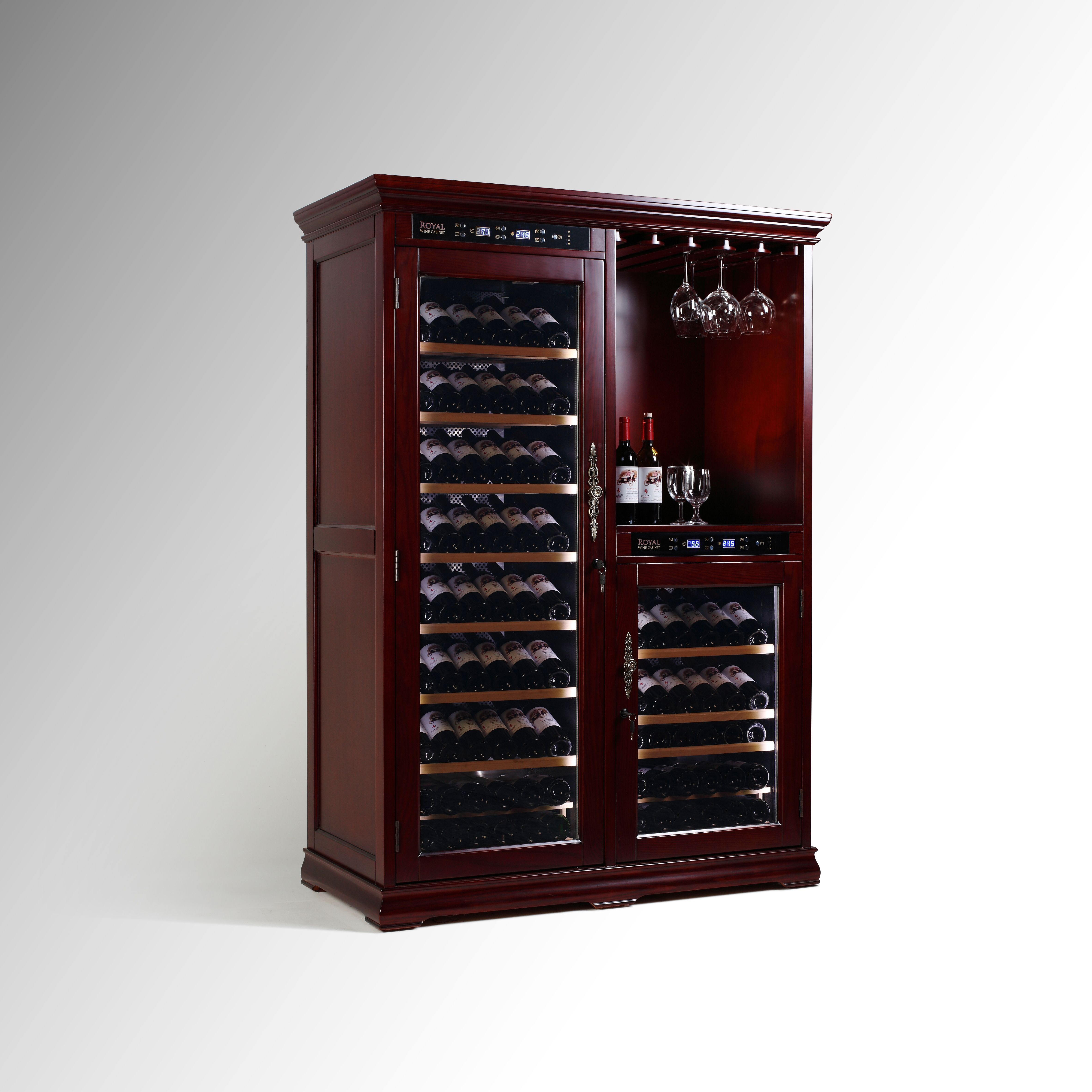 VinBro Wine Cellar bo Furniture 232 Bottle Home Bar Decor 143 75
