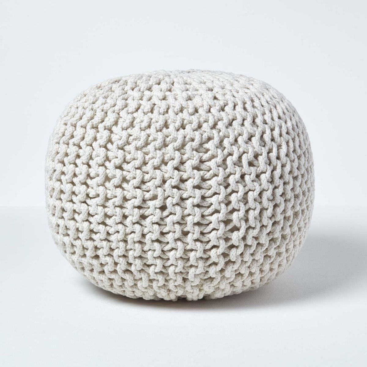 The Knitted Pouffe Trend In 2020 Knitted Pouffe Pouffe Knitted Pouf