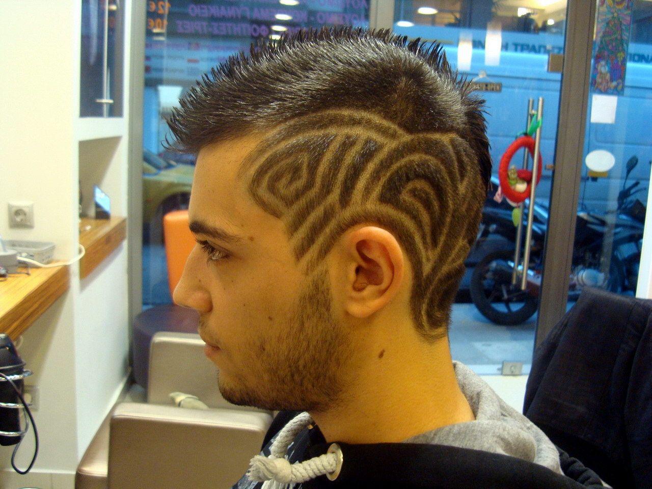 Greek hairdressing: hair tattoo by Aris Hair Art