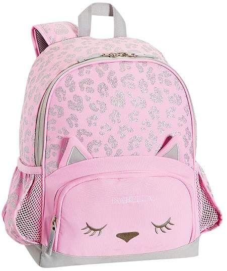 Mackenzie Critter Pink Glitter Kitty Backpack Kitty
