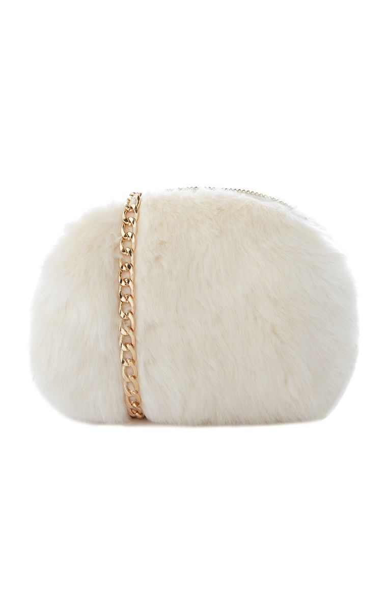 644502896 Primark - Cream Fluffy Cross Body Bag | Ricca - Italian Mob ...
