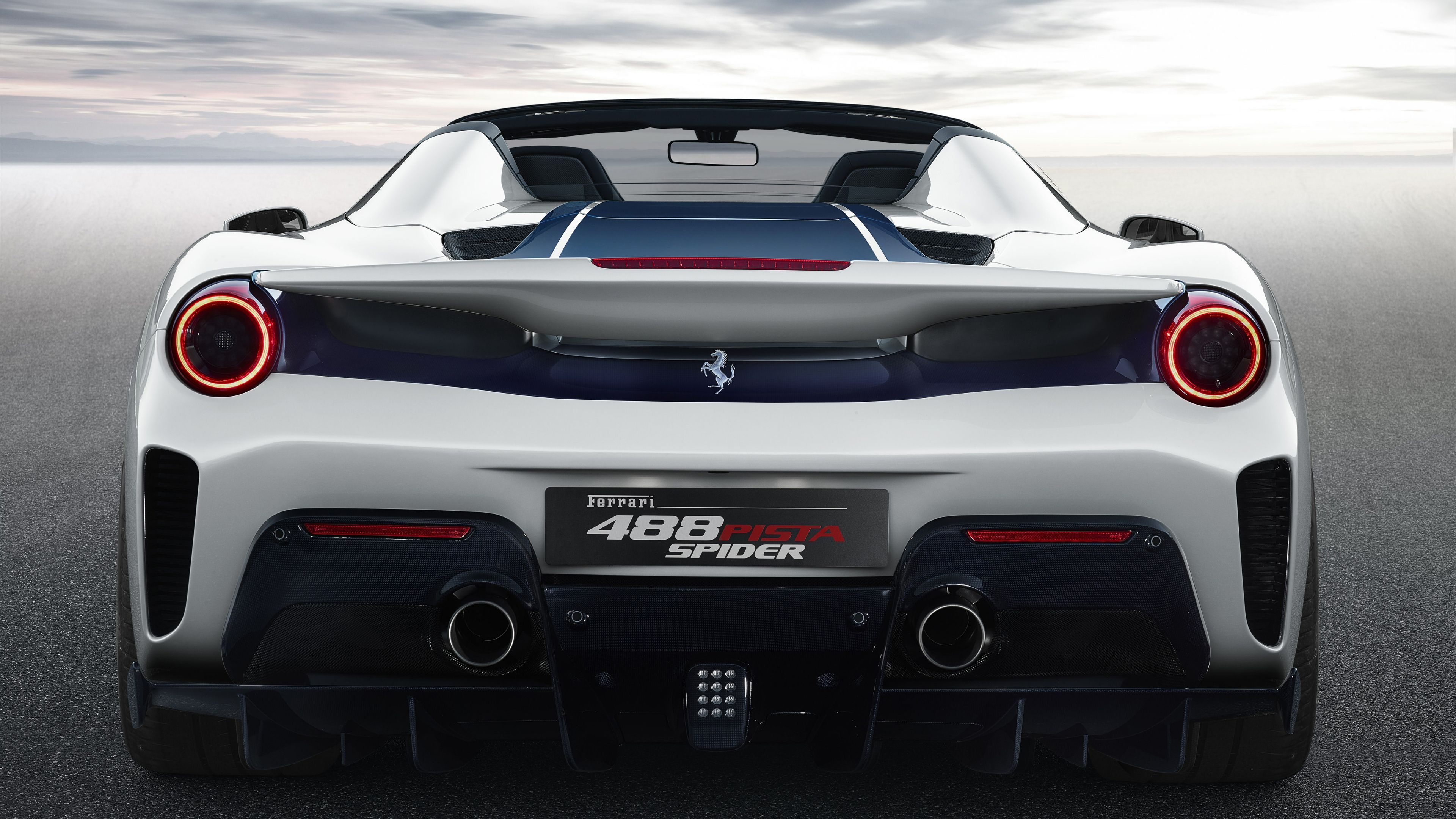 Wallpaper 4k 2018 Ferrari 488 Pista Spider Rear 2018 Cars