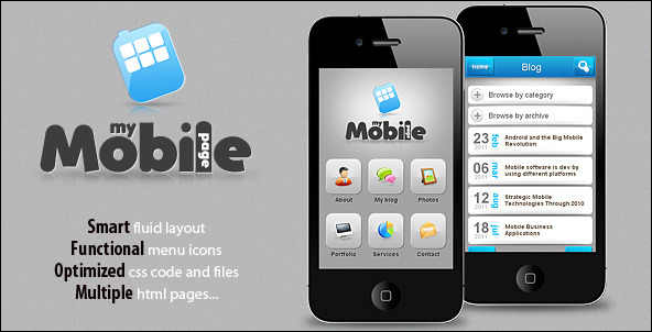 Mobile Website Templates 35 Popular Mobile Website Templates  Interesting Social Media