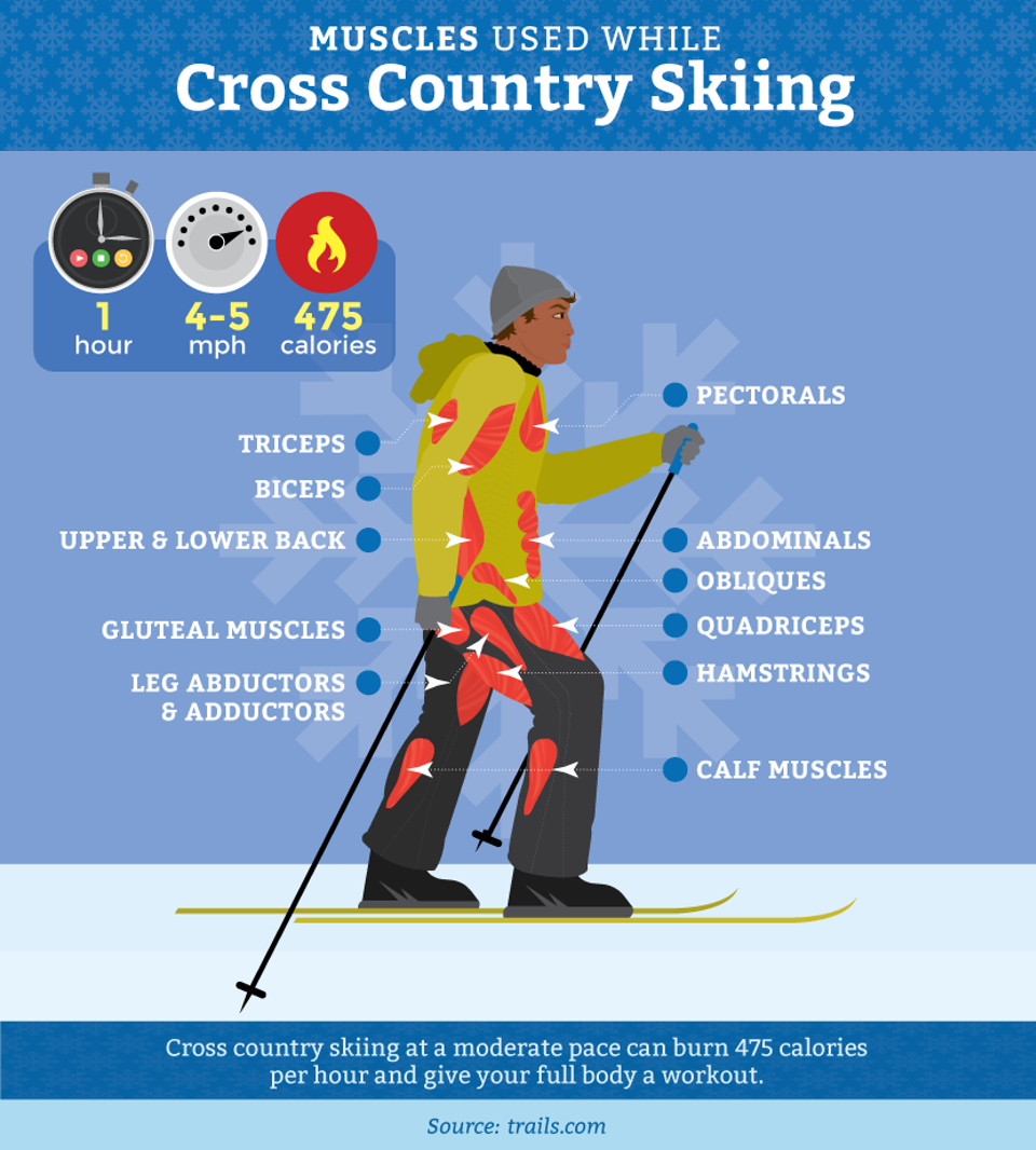 Fridayfix Snowshoeing Or Cross Country Skiing Which To Try Cross Country Skiing Workout Cross Country Skiing Outfit Cross Country Skiing