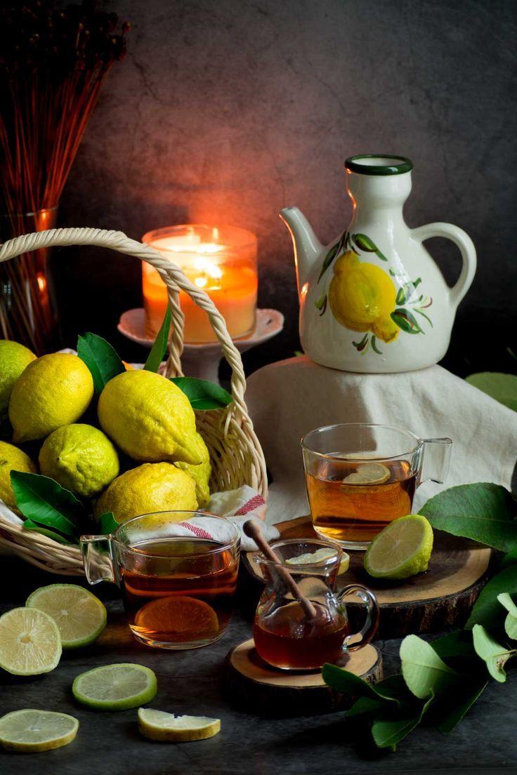 Honey and Lemon Tea สูตรอาหาร ชาเขียว, มะนาว, น้ำผึ้ง