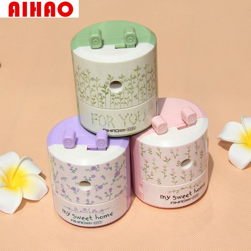 AIHAO New Arrival My Sweet Home Easy Turn Pencil Sharpener High Quality Sharpener for Kid School&Office Supply