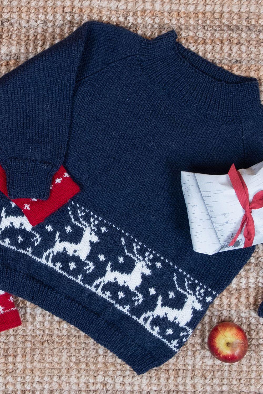 oppskrift på genser med reinsdyr