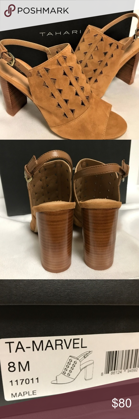 9cdfb89b46 Tahari Womens 8M Open Toe Sandal Sling Backs Brown shoppethefinds Updated 3  hours ago Edit Listing