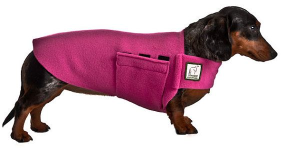Miniature Dachshund Tummy Warmer Fleece Dog Coat Fleece Sweater