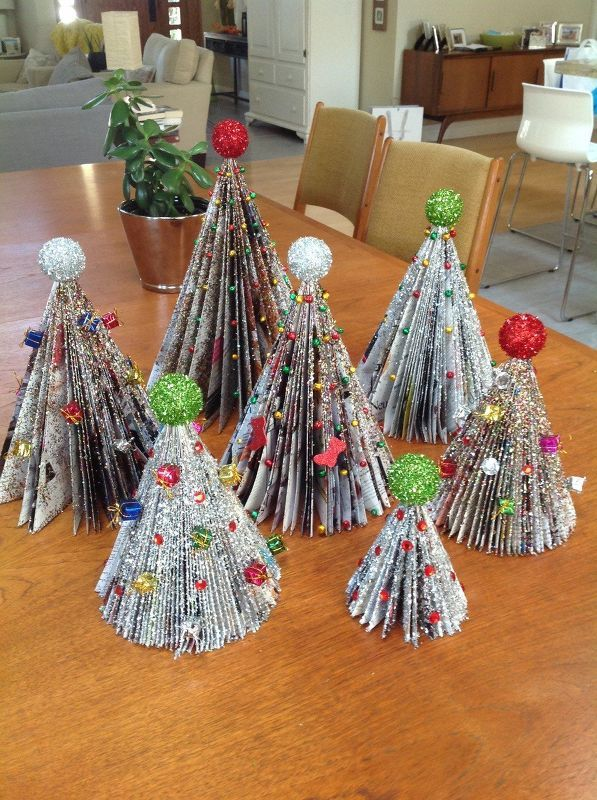 Make Diy Christmas Trees Out Of Old Magazines Christmas Diy Christmas Tree Crafts Christmas Crafts