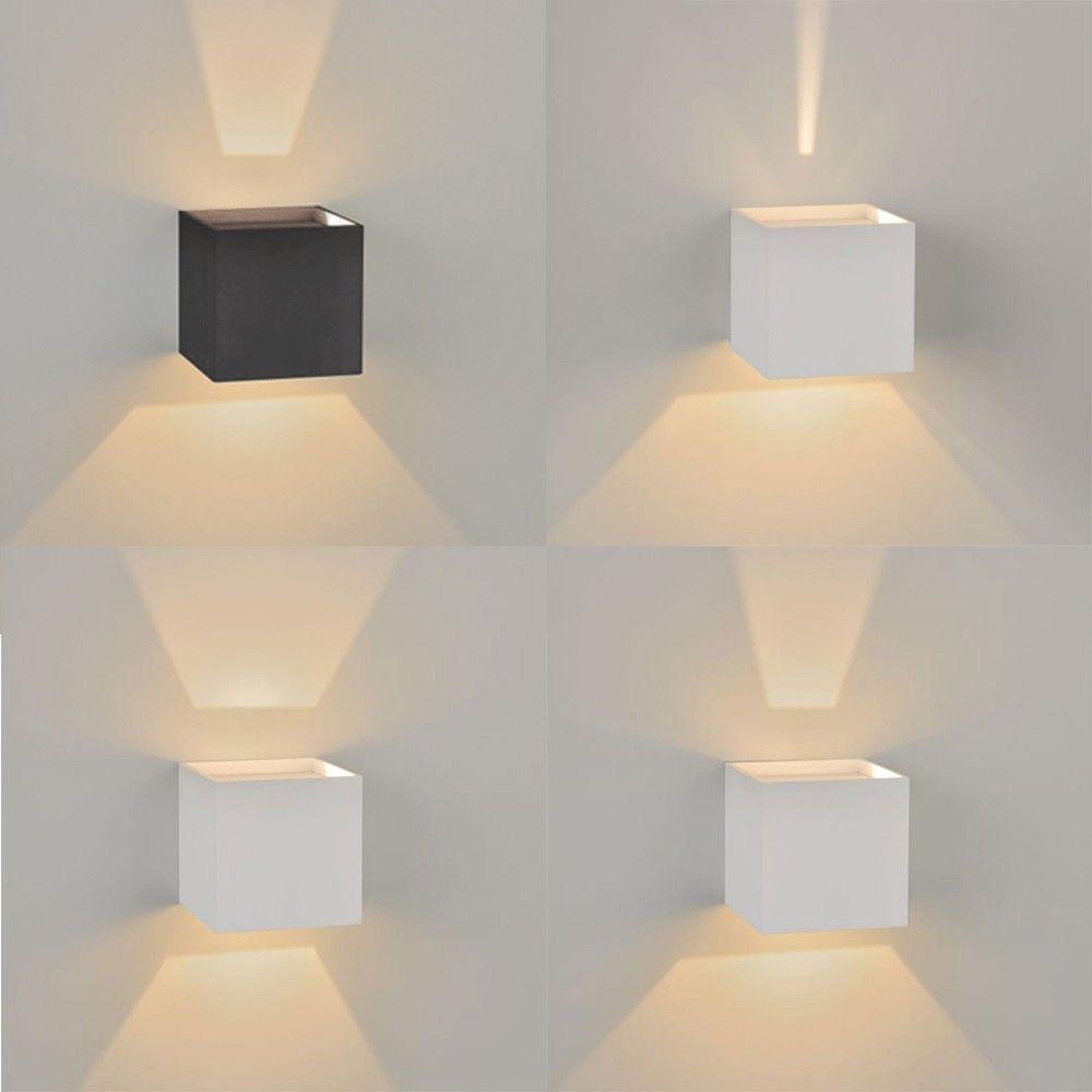 Licht Skapetze skapetze ixa led wandleuchte ip44 verstellbare winkel weiss