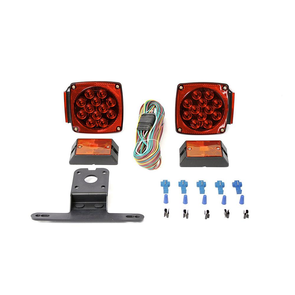 Maxxhaul 12 Volt All Led Submersible Trailer Light Kit In 2020 Led Trailer Lights Trailer Accessories Led Light Kits