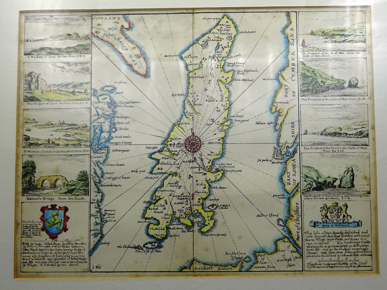 Antique Map of the Isle of Man #britishisles