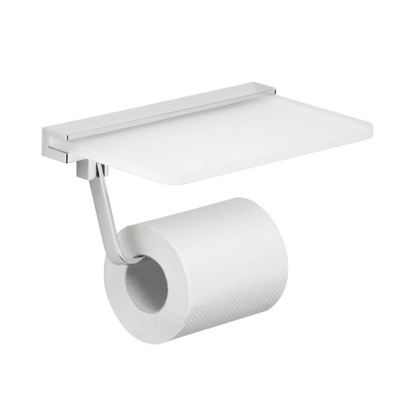 Avenarius Toilet Roll Holder With Glass Shelf 9002000010 Reuter