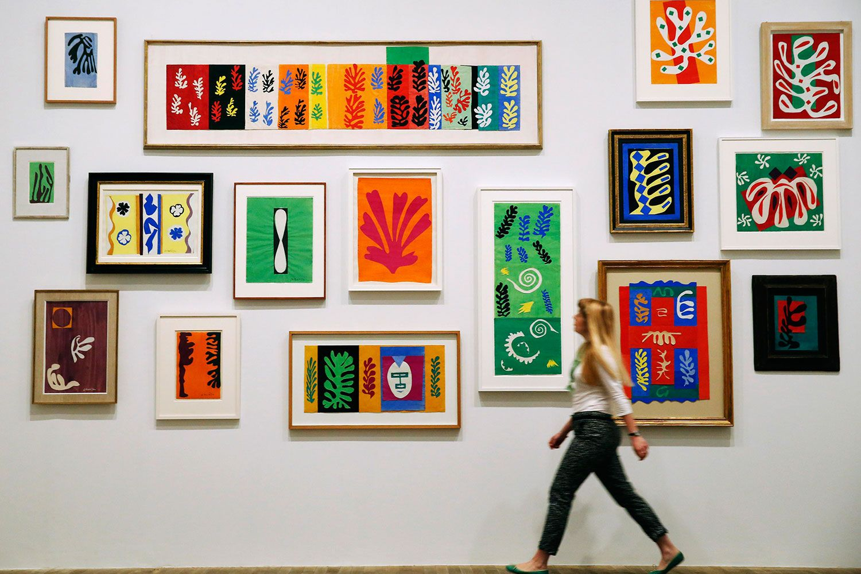 Exposición de Henri Matisse en la Tate Modern de Londres.